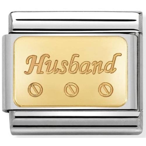 Nomination - Link 18K Gold 'Husband'  030121/40
