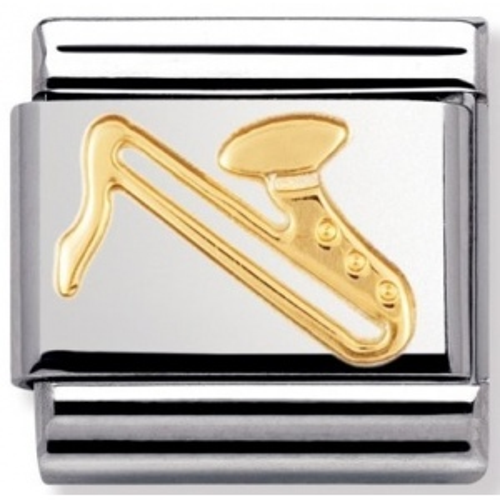 Nomination - Link 18K Gold 'Saksofon' 030117/07