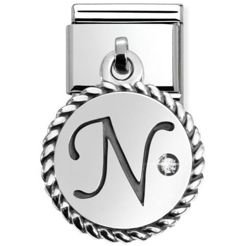 Nomination - Link 925 Silver 'Litera N' 031715/14
