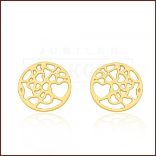 Pozłacane kolczyki - Ażurowe monety