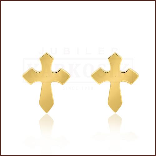 Pozłacane kolczyki - Krzyżyki