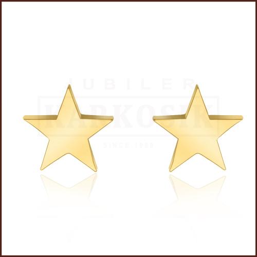 Pozłacane kolczyki - Gwiazdki