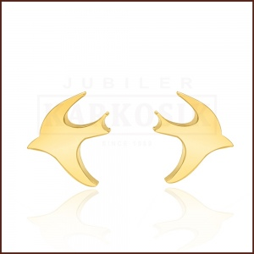 Pozłacane kolczyki - Jaskółki