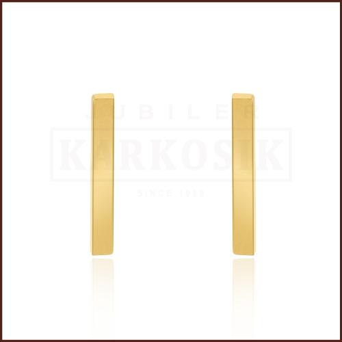 Pozłacane kolczyki - Przecinki