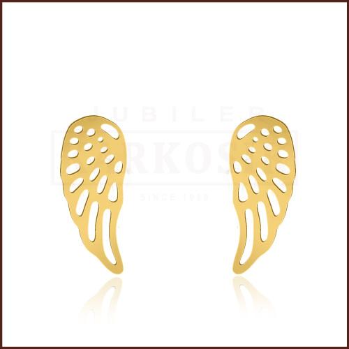 Pozłacane kolczyki - Skrzydła Anioła