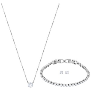 Zestaw SWAROVSKI - Attract Emily Set, White, Rhodium plating 5408443