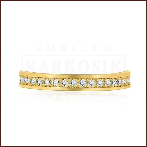 Pierścionek zaręczynowy 585 złoto z brylantem 0,38ct
