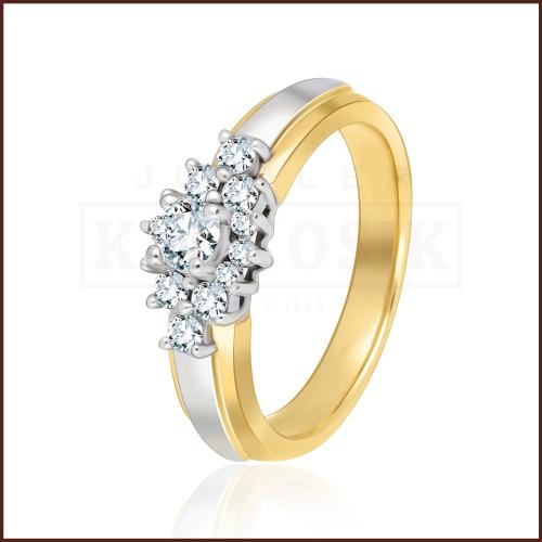 Pierścionek zaręczynowy 585 złoto z brylantami 0,50ct
