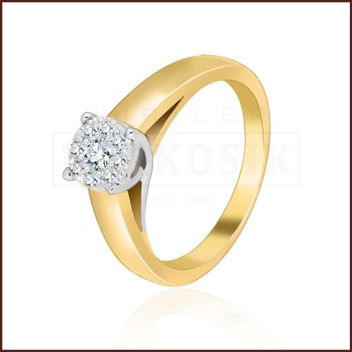 Pierścionek zaręczynowy 585 złoto z brylantami 0,25ct