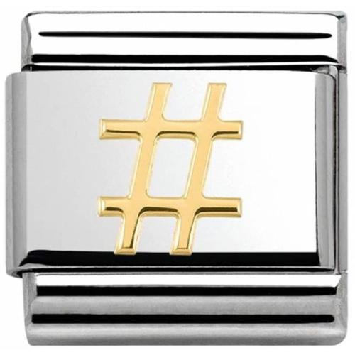 Nomination - Link 18K Gold 'Hashtag' 030108/16