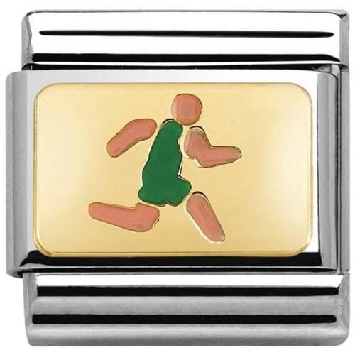Nomination - Link 18K Gold 'Biegacz' 030259/08