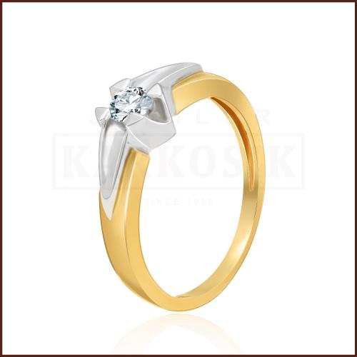 Pierścionek zaręczynowy 585 złoto z brylantem 0,25ct - 13