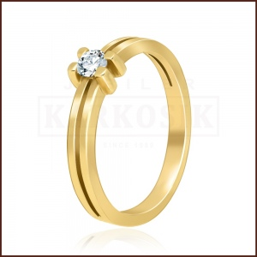 Pierścionek zaręczynowy 585 złoto z brylantem 0,14ct - 13