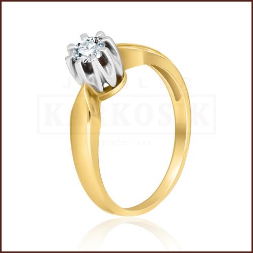 Pierścionek zaręczynowy 585 złoto z brylantem 0,26ct - 13