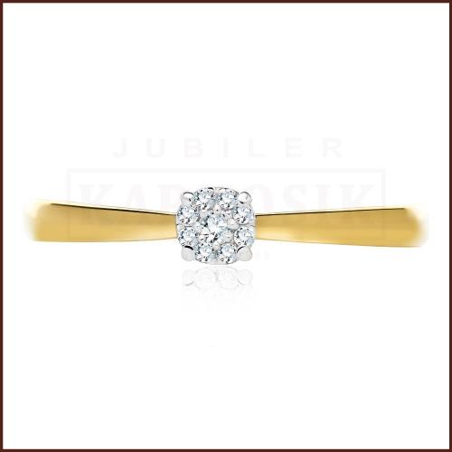 Pierścionek zaręczynowy 585 złoto z brylantem 0,073ct