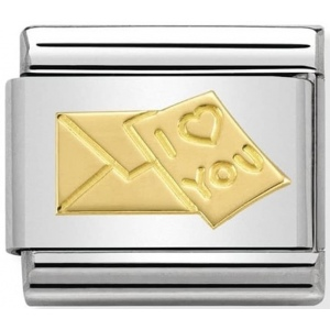 Nomination - Link 18K Gold With Love 030162/26