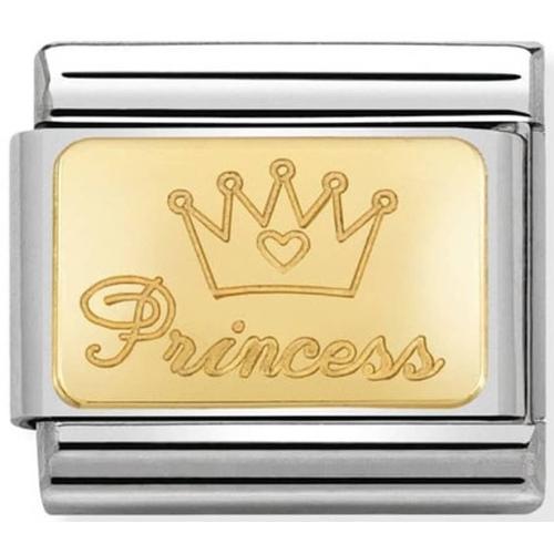 Nomination - Link 18K Gold 'Księżniczka' 030121/47