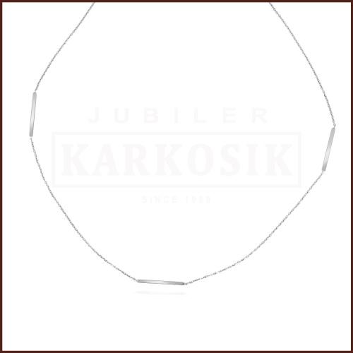 Srebrny Naszyjnik Celebrytka -Ażurowe Serce, Koniczynka, Kółeczko pr.925