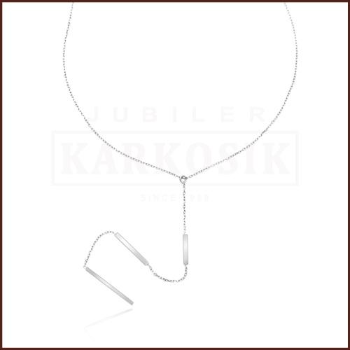 Srebrny Naszyjnik Celebrytka - Trzy Prostokąty pr.925