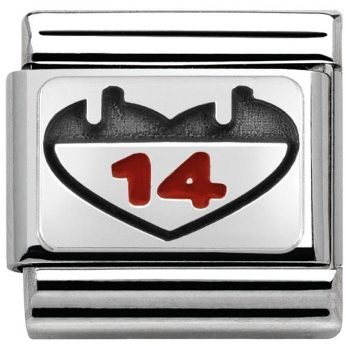 Nomination - Link 925 Silver 'Kalendarz Serce' 330208/03