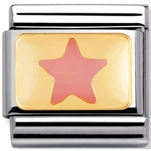 Nomination - Link 18K Gold 'Różowa Gwiazda' 030209/10