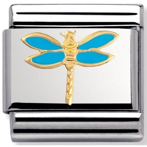 Nomination - Link 18K Gold 'Niebieska Ważka' 030211/19