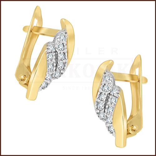 Złote kolczyki - Koła pr.585