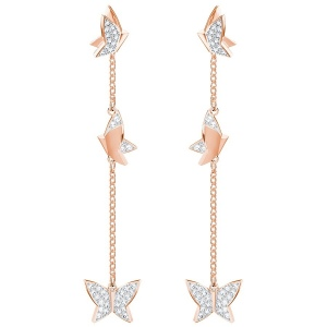 Kolczyki SWAROVSKI - Lilia Pierced Earrings, Rose gold 5382367
