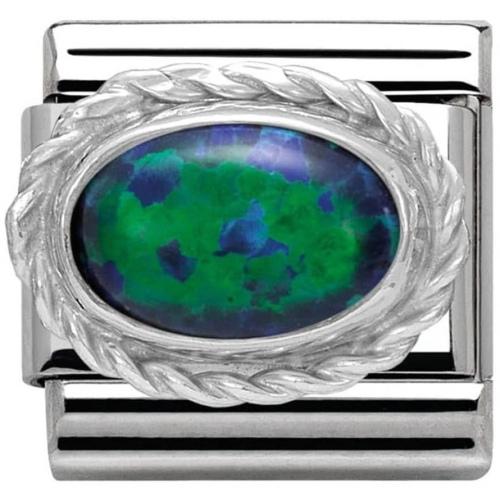 Nomination - Link 925 Silver 'Zielony Opal' 030509/26