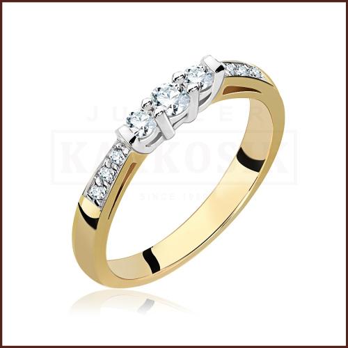 Pierścionek zaręczynowy 585 złoto z brylantem 0,27ct - 13