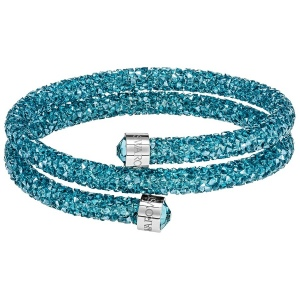 Bransoletka SWAROVSKI - Crystaldust Double Bangle, Aqua 5409021 S