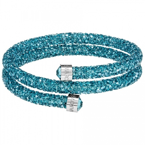 Bransoletka SWAROVSKI - Crystaldust Double Bangle, Aqua 5409021