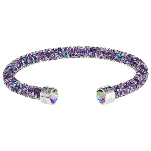 Bransoletka SWAROVSKI - Crystaldust Double Bangle, Purple 5409019 S