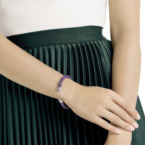 Bransoletka SWAROVSKI - Crystaldust Double Bangle, Purple 5409019 S