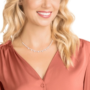 Naszyjnik SWAROVSKI -       Lima Necklace, White, Rose gold plating 5377376