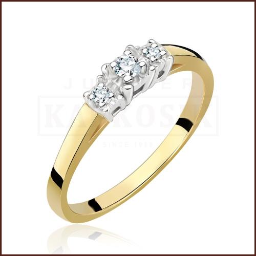 Pierścionek zaręczynowy 585 złoto z brylantem 0,10ct - 16