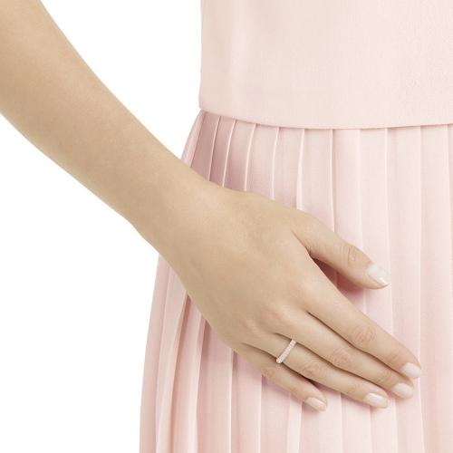 Pierścionek SWAROVSKI - Stone Mini Ring, Rose gold 5402441 58