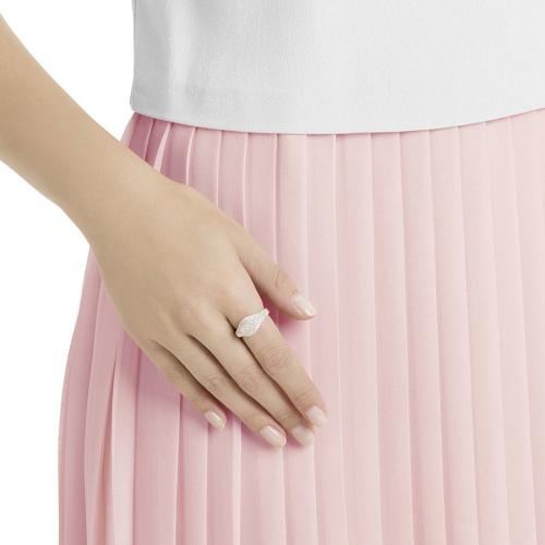 Pierścionek SWAROVSKI - Stone Signet Ring, Pink, Rose gold plating 5406219 55