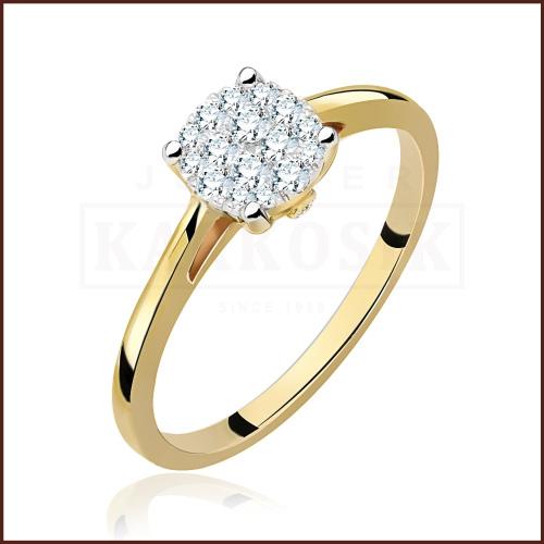 Pierścionek zaręczynowy 585 złoto z brylantami 0,27ct - 15