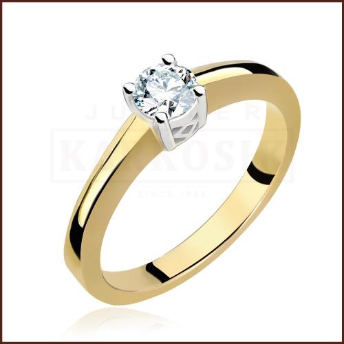 Pierścionek zaręczynowy 585 złoto z brylantem 0,40ct - 15