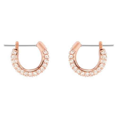 Kolczyki SWAROVSKI - Stone Pierced Small, Rose Gold Pink 5446008