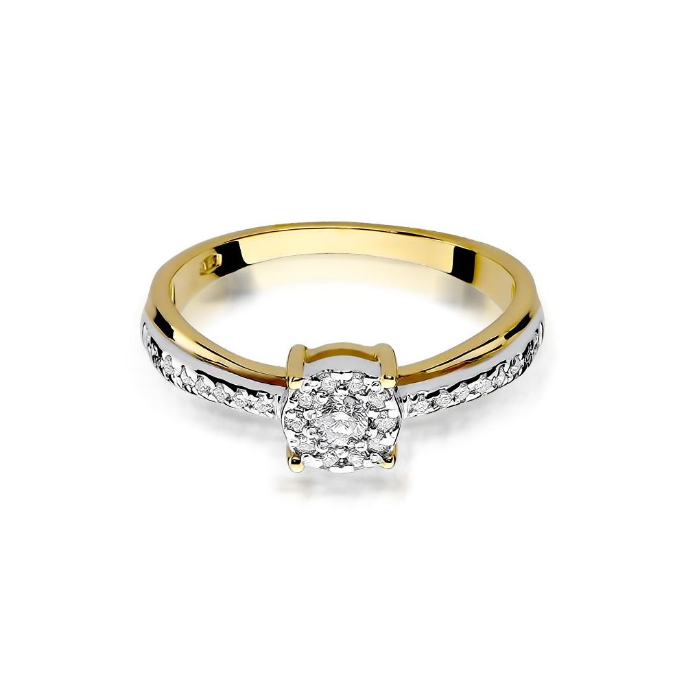 Pierścionek zaręczynowy 585 złoto z brylantami brylantami 0,25ct