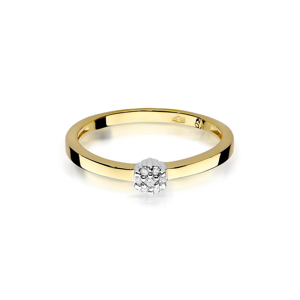Pierścionek zaręczynowy 585 złoto z brylantami 0,04ct