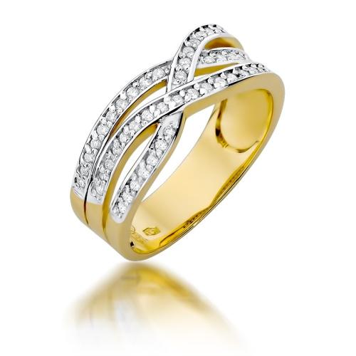 Pierścionek zaręczynowy 585 złoto z brylantami 0,27ct