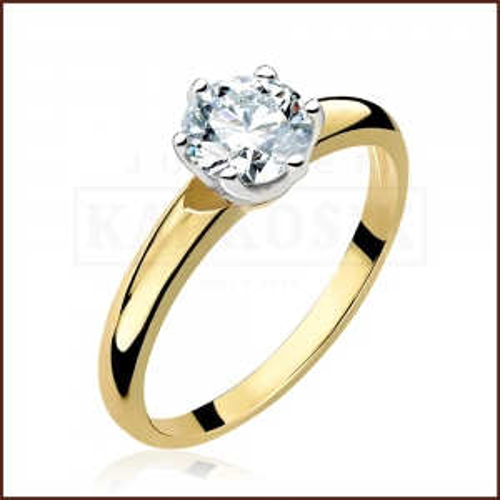Pierścionek zaręczynowy 585 złoto z brylantem 0,83ct - 14