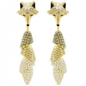 Kolczyki SWAROVSKI - March Vertical Fox, Gold 5409357