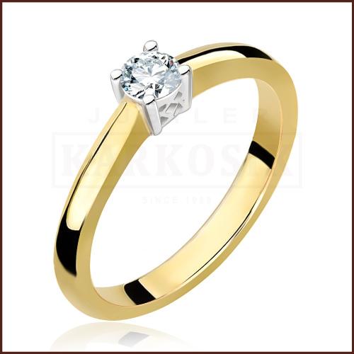 Pierścionek zaręczynowy 585 złoto z brylantem 0,20ct - 15