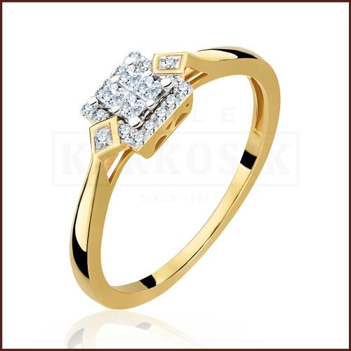Pierścionek zaręczynowy 585 złoto z brylantami 0,25ct - 20
