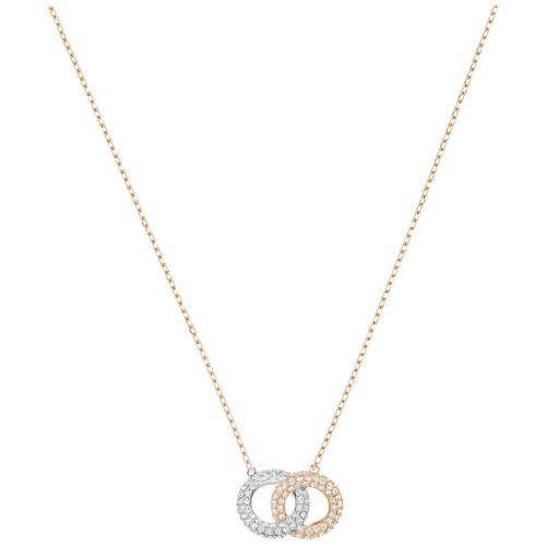 Naszyjnik SWAROVSKI - Stone Double, Rose Gold 5414999