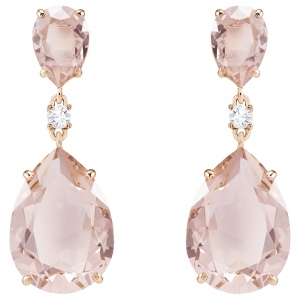 Kolczyki SWAROVSKI - Vintage Drop Pear, Rose Gold 5424361